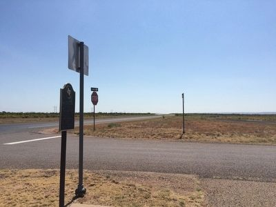 The view south on US 84 from marker. image. Click for full size.