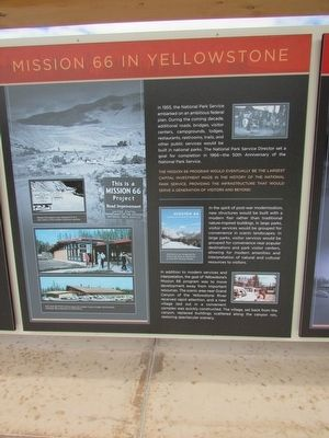 Mission 66 in Yellowstone Marker image. Click for full size.