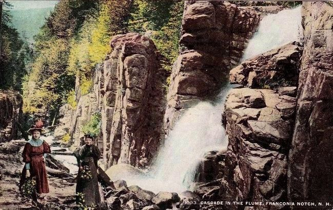 <i>Cascade in the Flume, Franconia Notch, N.H.</i> image. Click for full size.