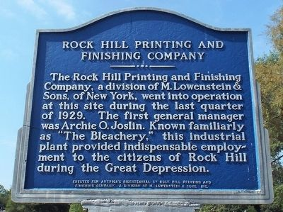 Rock Hill Printing and Finishing Company image. Click for full size.