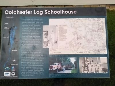 Colchester Log Schoolhouse Marker image. Click for full size.
