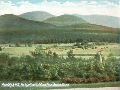 <i>Randolph, N.H., Mt. Madison & Adams from Ravine House</i> image. Click for full size.