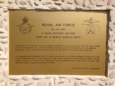 Royal Air Force 6 June 1944 Marker image. Click for full size.