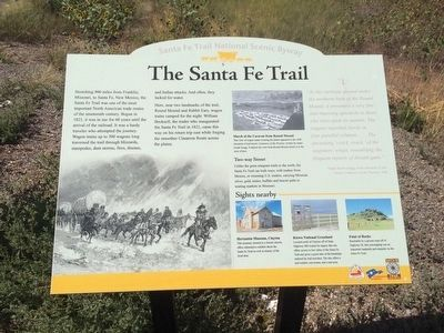 Nearby Santa-Fe Trail Interpretive Marker image. Click for full size.
