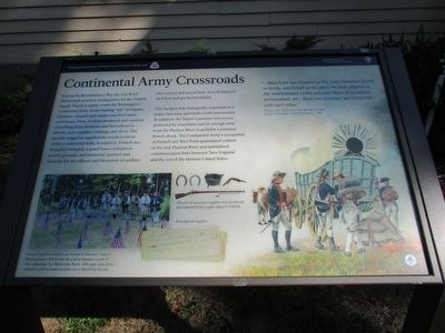 Continental Army Crossroads Marker image. Click for full size.
