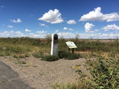 Two Santa Fe Trail Markers image. Click for full size.