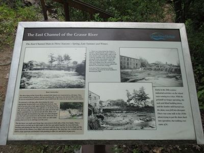 The East Channel of the Grasse River Marker image. Click for full size.