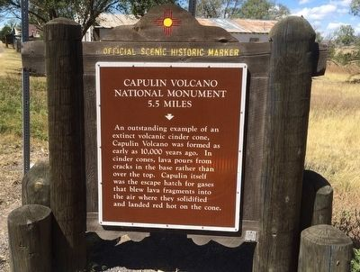 Capulin Volcano National Monument Marker (Front) image. Click for full size.