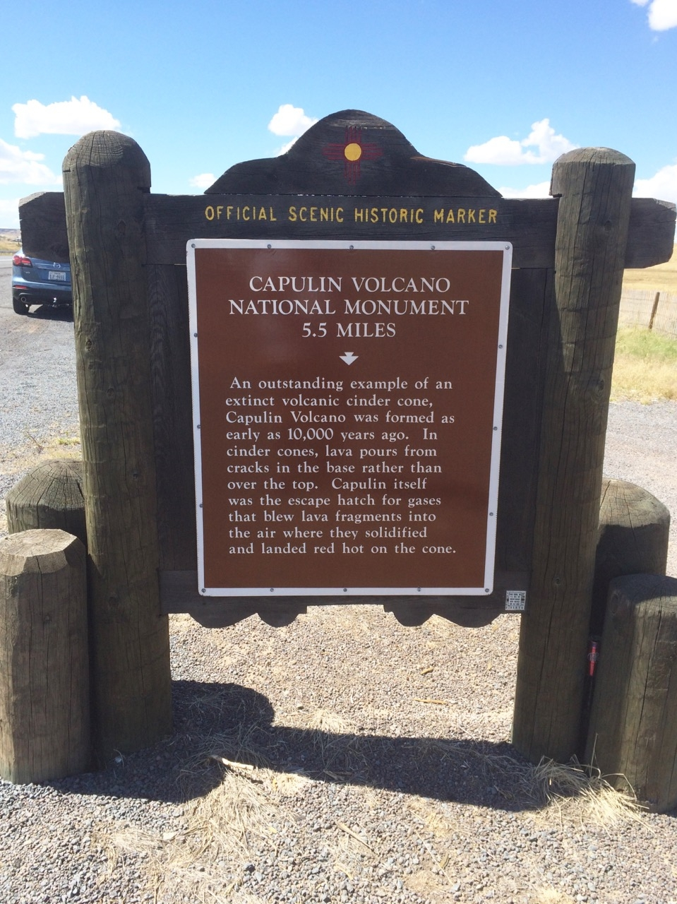 Capulin Volcano National Monument Marker