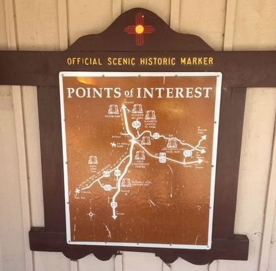 Reverse of marker showing points of interest. image. Click for full size.