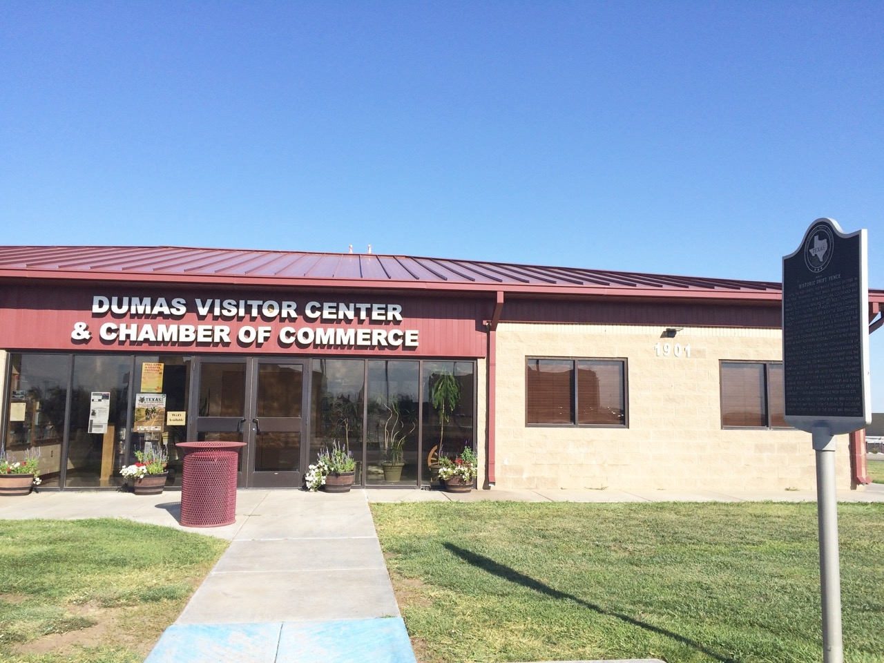 City of Dumas Visitors Center and Chamber of Commerce.