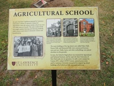 Agricultural School Marker image. Click for full size.