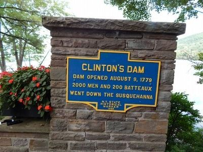 Clinton's Dam Marker image. Click for full size.