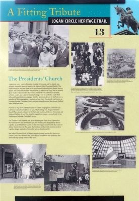 The Presidents' Church Marker image. Click for full size.