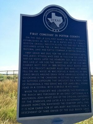 First Cemetery in Potter County Marker image. Click for full size.