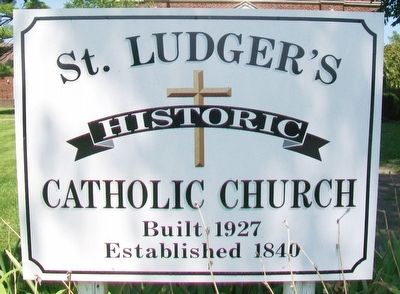 St. Ludger Catholic Church Sign image. Click for full size.
