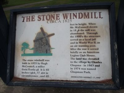 Wind Mill Information Panel image. Click for full size.