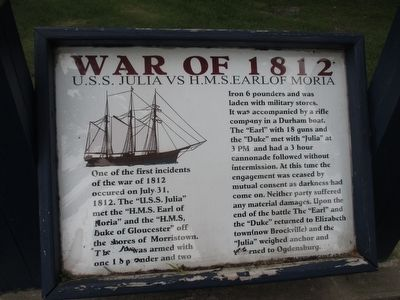 War of 1812 Incident Panel image. Click for full size.