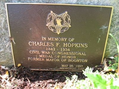Charles F. Hopkins Marker image. Click for full size.