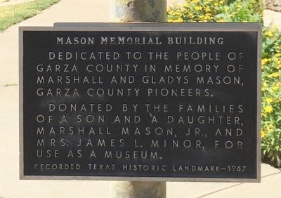Mason Memorial Building Marker image. Click for full size.