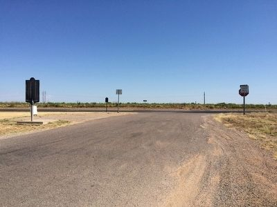 View looking east towards U.S. Highway 84 & OS Ranch Marker. image. Click for full size.