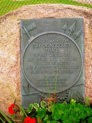 Bay de Nocquet Trail Marker image. Click for full size.