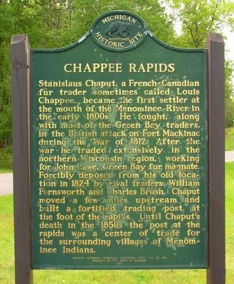 Chapee Rapids Marker image. Click for full size.