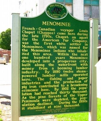 Menominee Marker image. Click for full size.