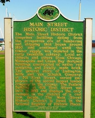 Main Street Historic District Marker image. Click for full size.