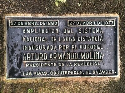 El Salvador's Telephone System Marker image. Click for full size.