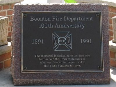 Boonton Fire Department 100th Anniversary Marker image. Click for full size.