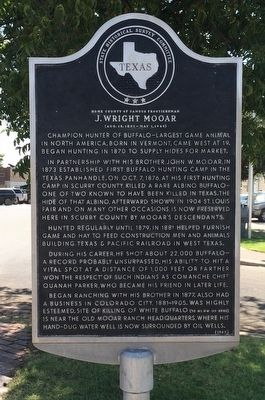 Home County of Famous Frontiersman J. Wright Mooar Marker image. Click for full size.