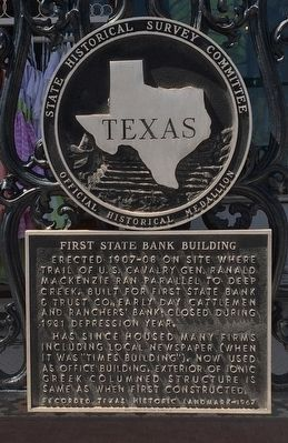 First State Bank Building Marker image. Click for full size.