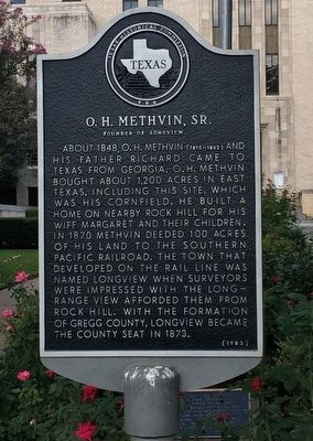 O. H. Methvin, Sr. Marker image. Click for full size.