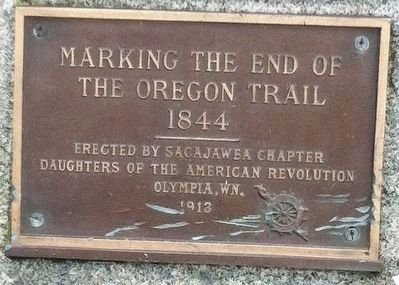 Marking the End of the Oregon Trail 1844 Marker image. Click for full size.