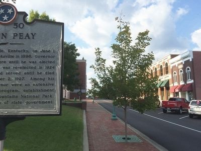 View of marker looking north on 3rd Street image. Click for full size.