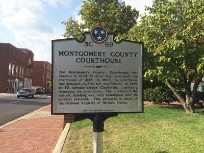 Montgomery County Courthouse Marker image. Click for full size.