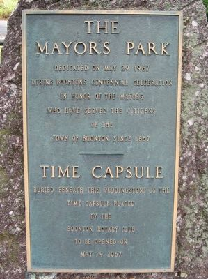 The Mayors Park Marker image. Click for full size.