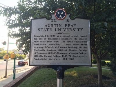 Austin Peay State University Marker image. Click for full size.