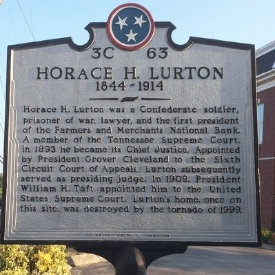 Horace H. Lurton Marker image. Click for full size.
