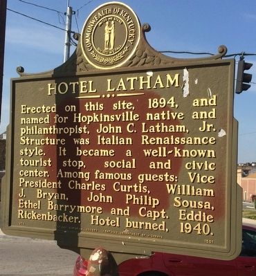 Hotel Latham Marker image. Click for full size.