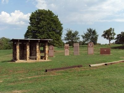 Original Battle of Honey Springs Memorial Area image. Click for full size.