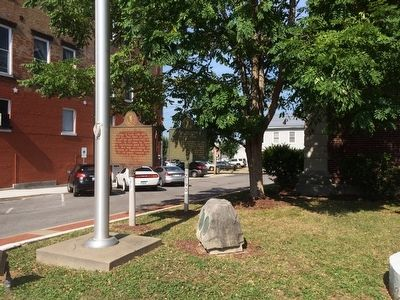 Wide shot of marker behind County Burned Marker. image. Click for full size.