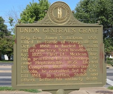 Union General's Grave Marker image. Click for full size.