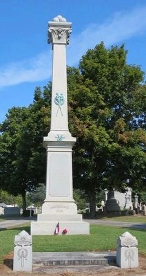 Confederate Civil War memorial in cemetery. image. Click for full size.