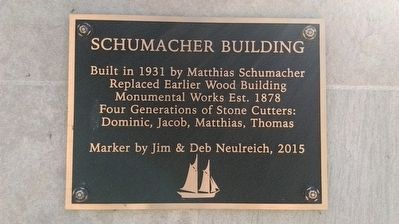 Schumacher Building Marker image. Click for full size.