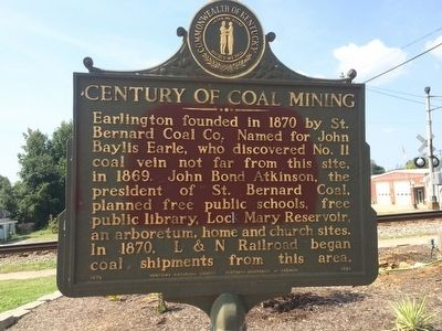 Century of Coal Mining Marker image. Click for full size.