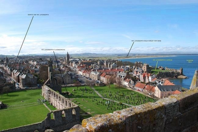 View of St Andrews Landmarks from St. Rule's Tower image. Click for full size.