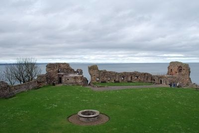 St Andrews Castle Grounds, looking toward the North Sea image. Click for full size.