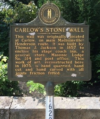Carlow's Stone Wall Marker image. Click for full size.